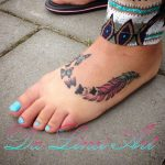 feather feathertattoo featherbutterfly butterfly butterflytattoo pinktattoo