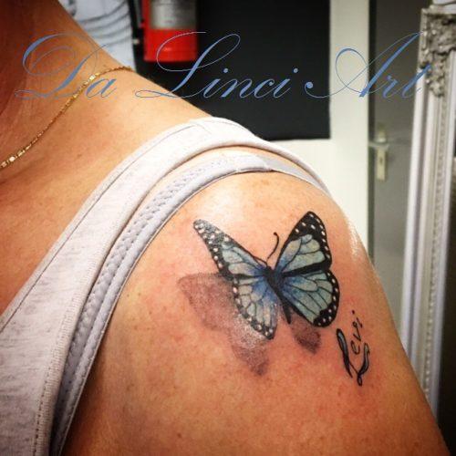 Vlinder Tattoos Da Linci Art