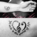 #music #musickeytattoo #musictattoo #lovemusic #heart #hearttattoo #lettering #letteringtattoo #tattoo #tattoos #tattooshop #dalinciart #zwijndrecht